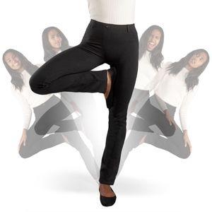 Betabrand Dress Yoga Straight Leg Classic Pants